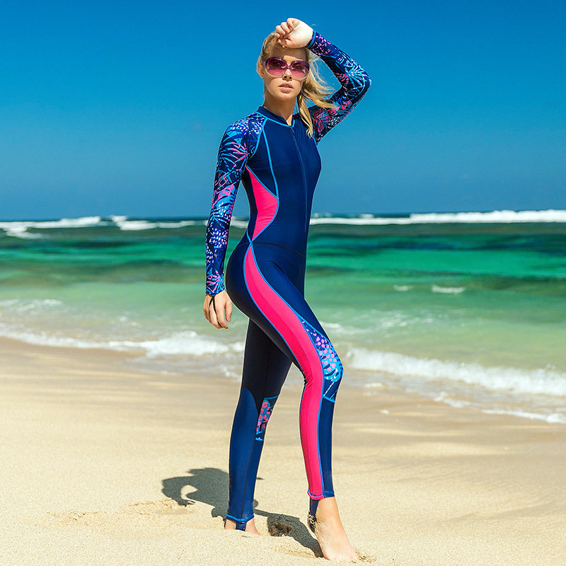 f0d26903642 2018 Scuba Diving Wetsuits for Women Body Long Sleeve Diving Suits Swimwear  Snorkeling