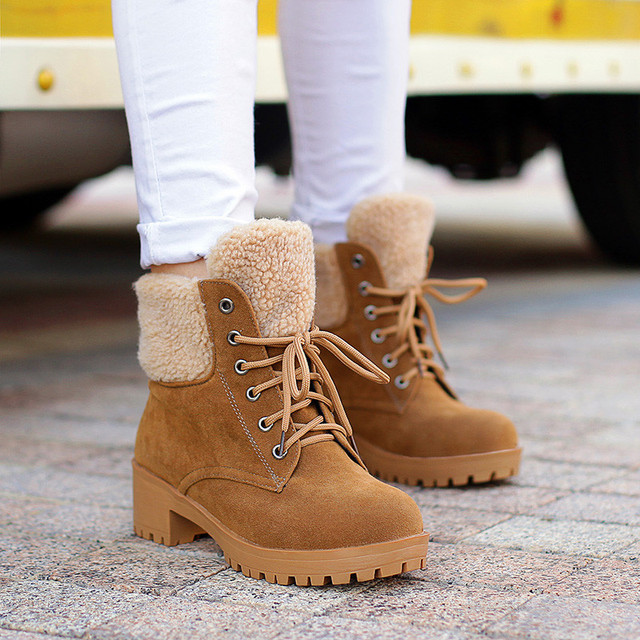 Aliexpress.com : Buy Fashion Suede Fur Snow Boots Women 2016 New