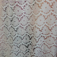 New Soft Elegant Burnout Fabric Flower Embroidere Lace Fabric Luxury Dress Fabric Textured Fabric 130cm 5yard
