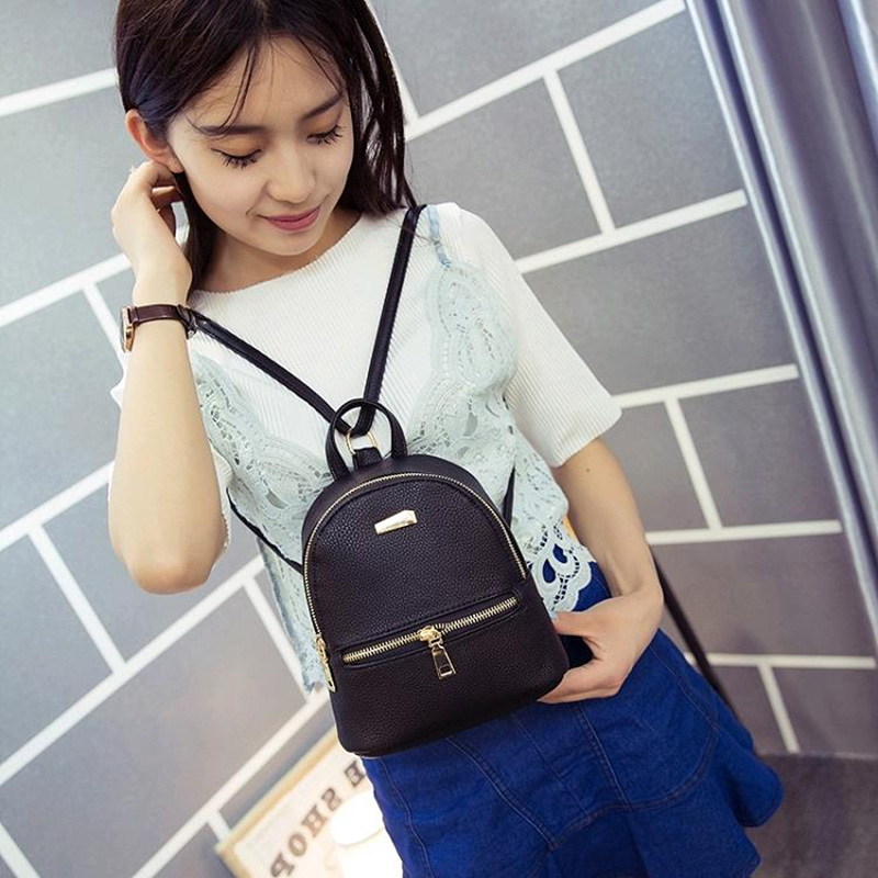Leftside 2017 Women Leather Backpack Children Backpack Mini Backpack Women Cute Back Pack Backpacks For Teenage Girls Small Bag #2