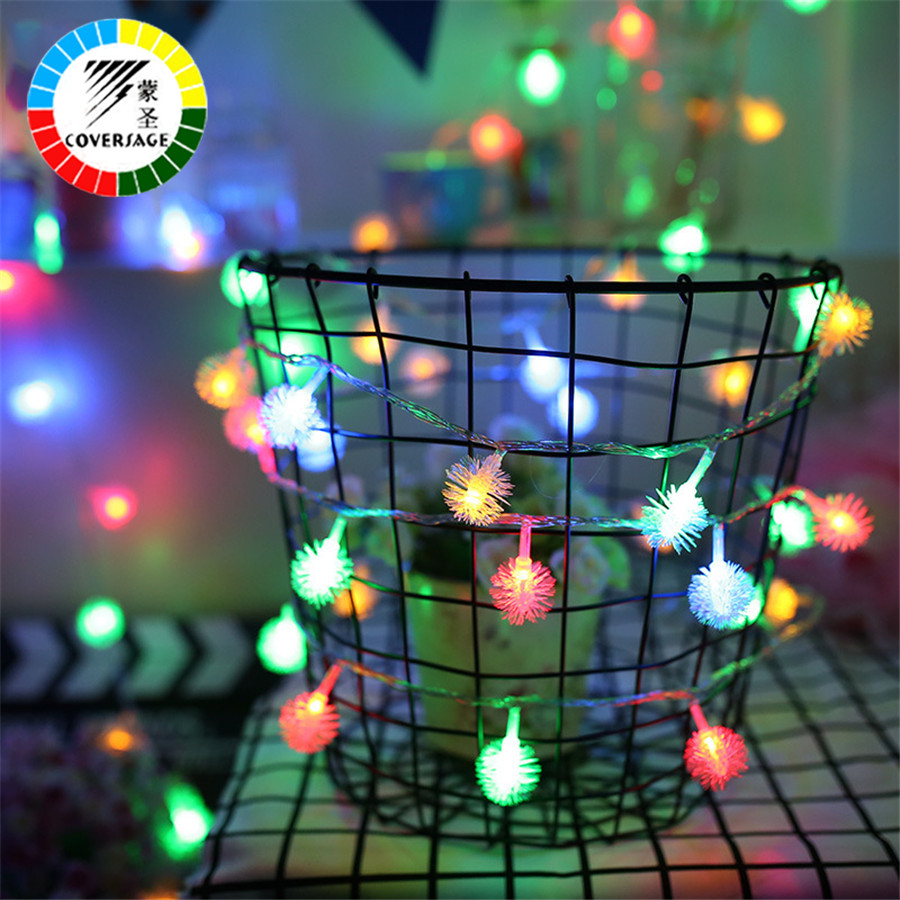 Coversage 10M 100 Led Christmas Tree Garland String Xmas Outdoor Indoor Decoration Led Curtain Navidad Fairy Lights Holiday