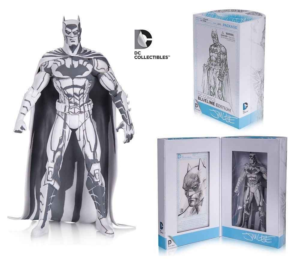 16cm Anime 2015 SDCC Batman Figure Blueline Edition Sketch Color Comics Hero Toys Model Gift