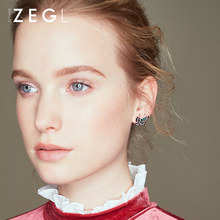 ZEGL small fresh sweet butterfly earrings for women temperament personality girl ear jewelry(China)