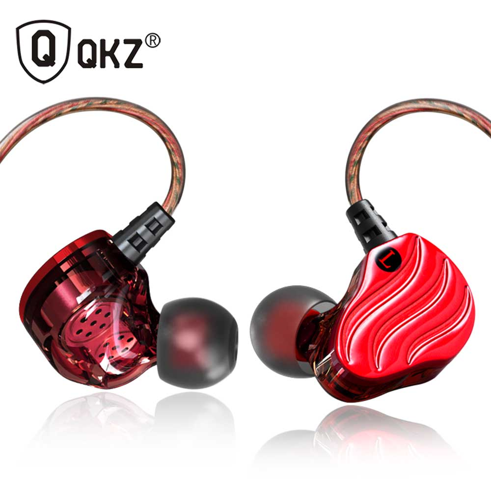 Earphones QKZ KD4 Mini Dual Driver Original hybrid dual dynamic driver in-ear earphone mp3 DJ Headset fone de ouvido auriculares