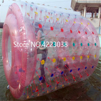 Бесплатная доставка 2,4*2,2 м надувных шарика ходить по воде роликовые колеса для взрослых или детей бесплатно насос