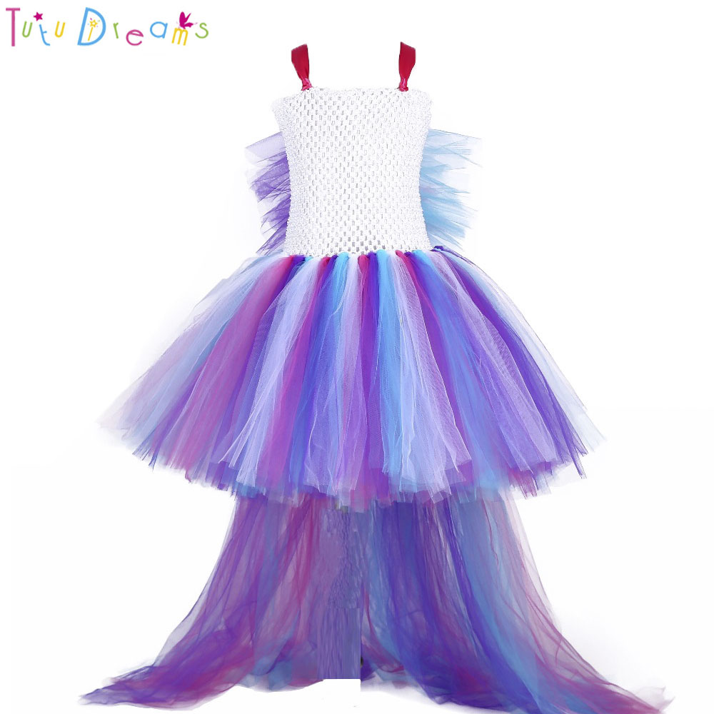 3d868584eb Princess Girl Unicorn Bustle Tutu Dress Girls Rainbow Birthday Party Photo Dresses  Kids Perform Costume For Special Holidays-in Dresses from Mother   Kids ...