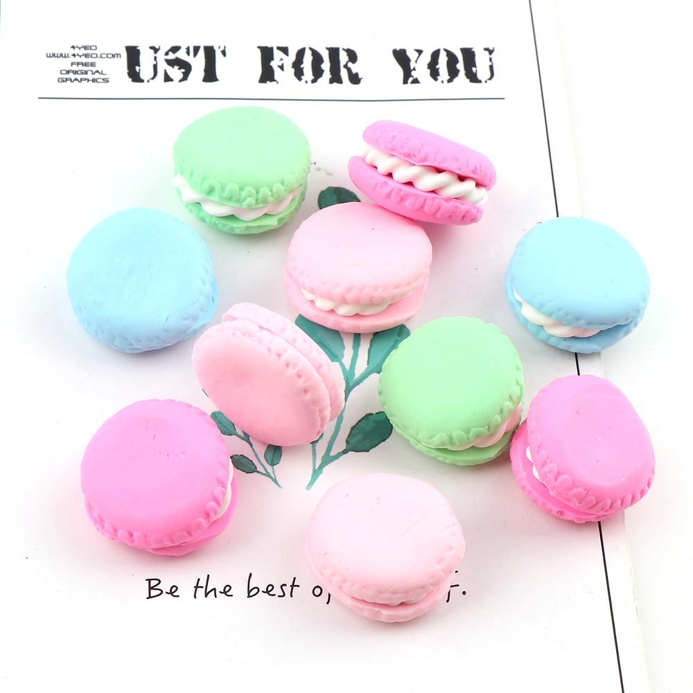 Mix Color 10mm 10pcs  Lovely Macaron Fimo Plating Enamel Fridge Refrigerator Magnets  Hand Crafts For Keychain Pendant