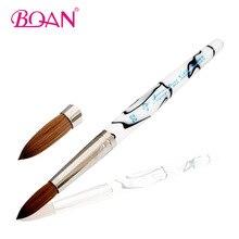 BQAN Superior #20 Oval Form Pure Sable Nail Brush Acrylic Brushes Kolinsky Nail Art Brush Free Shipping