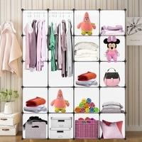 Simple Design 20 Grids DIY Plastic Storage Wardrobe DIY Waterproof Home Use Interlocking Storage Organiser Clothes Cabinet