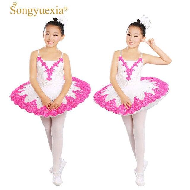 373409fee Songyuexia Children Swan Professional ballet dancewear Lake Costume Rose Ballet  Dress for Children Pancake Tutu Girls Dancewear
