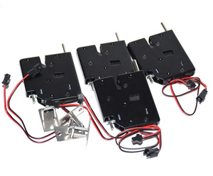 Image 4 - 5pcs 12V Mini Solenoid Electromagnetic Electric Control Push Pull Cabinet Drawer Lock with bouncer