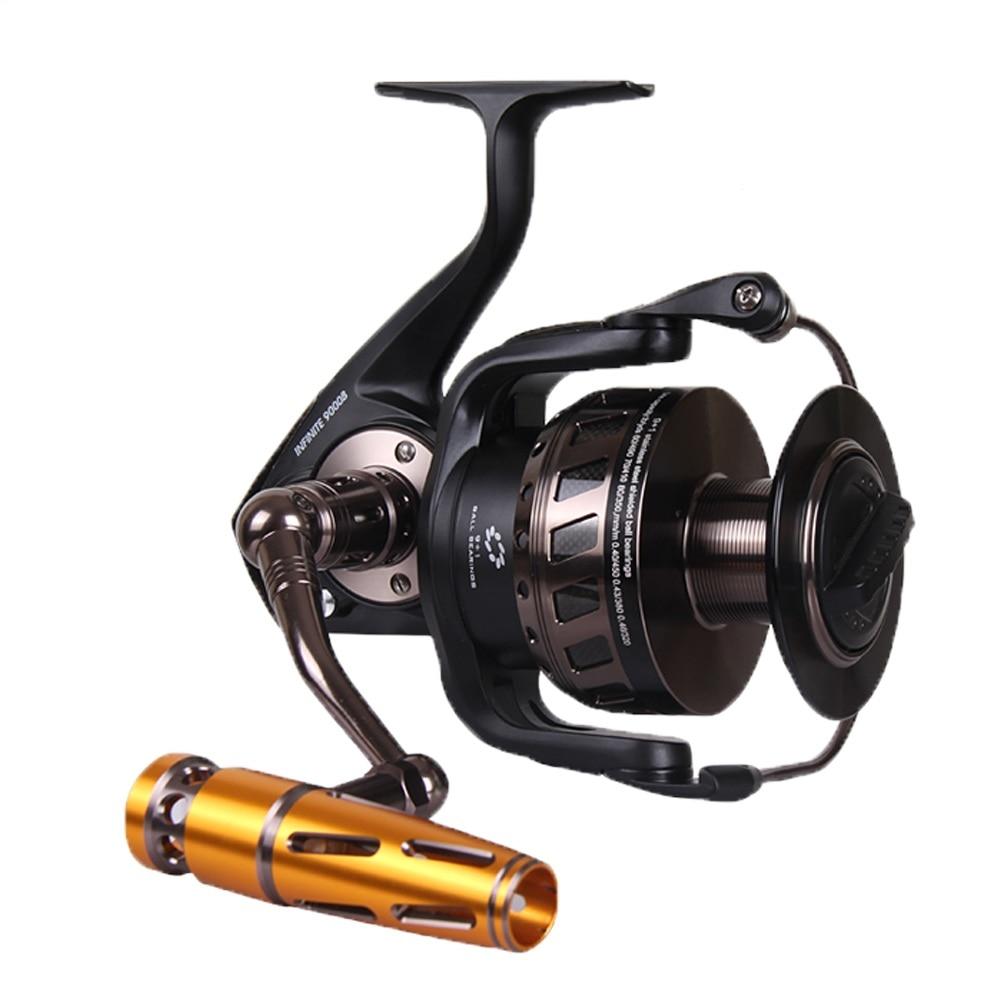 NOEBY Spinning Reel 30kg Drag Power 7000 Trolling Fishing Reels Full Metal 10+1BB 4.1:1 Gear Ratio Saltwater Fishing Tackle цена 2017