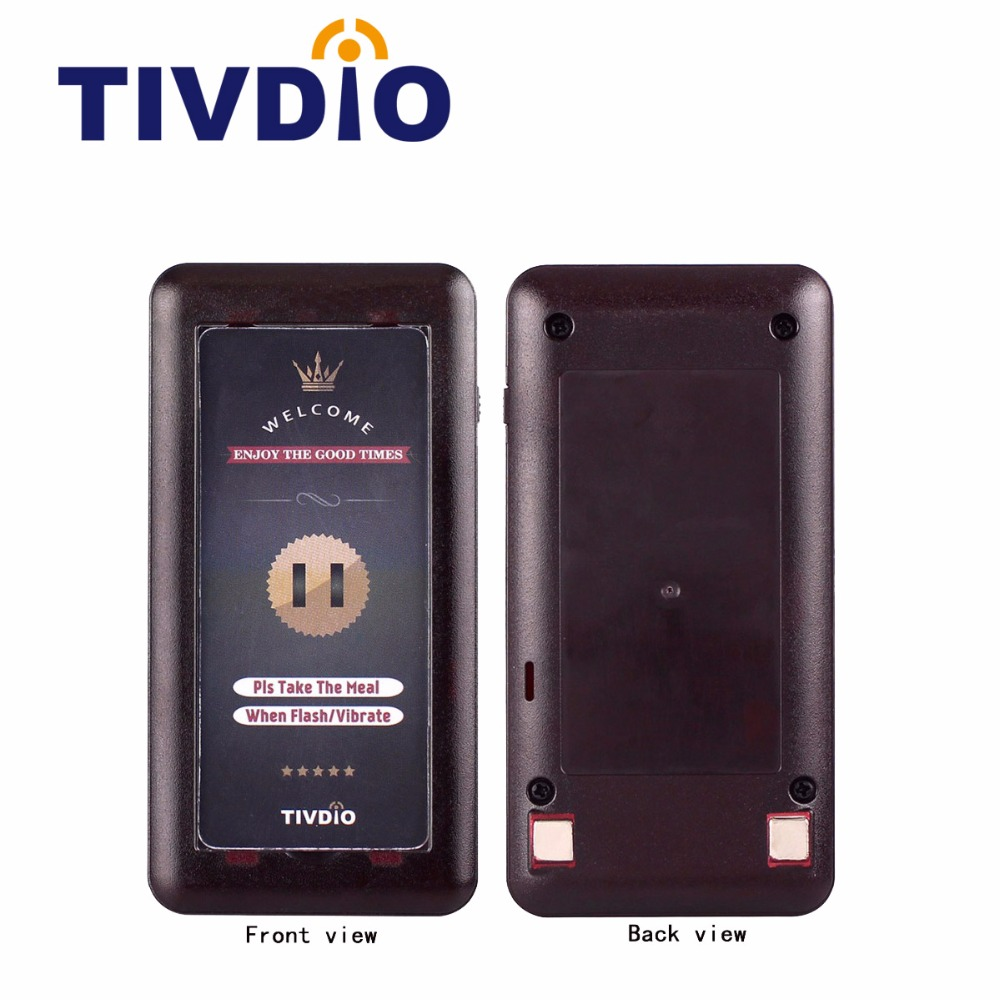 10pcs Tivdio Wireless Restaurant Call Coaster Pager Receiver for Paging Queuing System F3321 wireless guest pager system for restaurant equipment with 20 table call bell and 1 pager watch p 300 dhl free shipping
