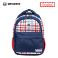 2015 Swisswin Limited Edition Shoulder School Bags for Teenage Boys Small Printing Backpack Light Bookbag mochila Korean Style