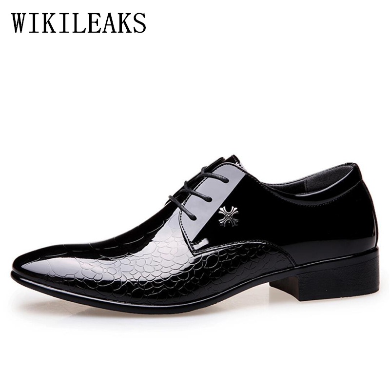 patent leather black oxford shoes for men crocodile skin shoes men wedding shoes formal mens pointed toe dress shoes italy derby pointed toe dress shoes mens patent leather black shoes wedding dress oxford shoes for men designer version luxury prom shoes