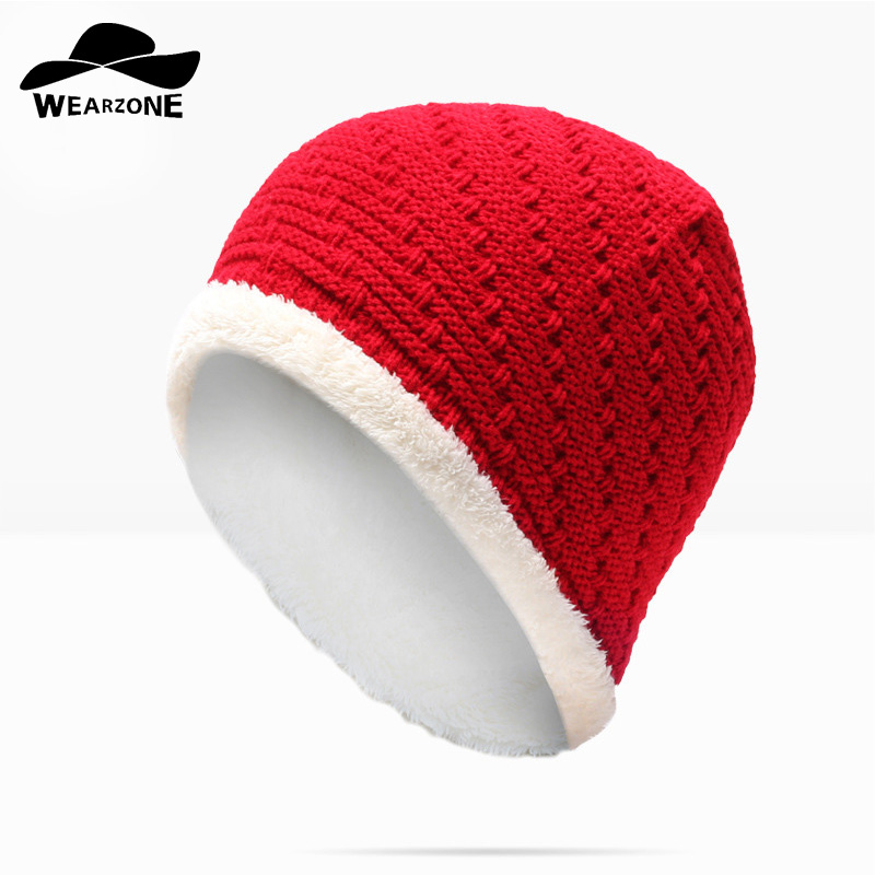 WEARZONE Hot Sales Knitting Hat Winter Hat For Man Skullies Beanies Warm Cap Man Beanie Hat High Quality Headgear Drop Shipping skullies