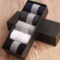 Homens de negócios meias harajuku calcetines hombre plain clássico homens meias respirável meias de algodão sólidos 10 pcs = 5 pair por lote Nenhuma Caixa
