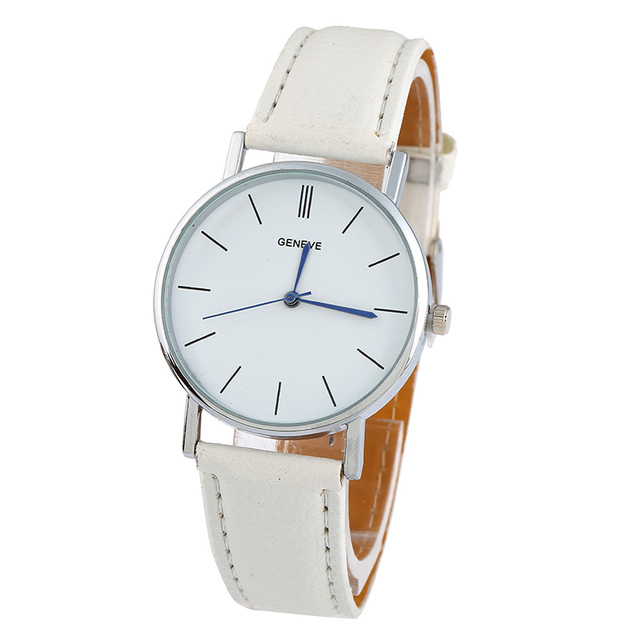 f3c0280015f New Golden Geneva Platinum Watch Woman Fashion Pu Leather Casual Dress  Women Wristwatch Boy Fashion Watch