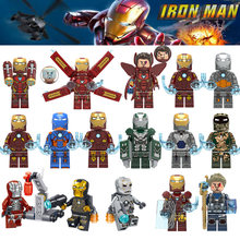 Single Sale Legoings Ironman Super Heroes Building Blocks Iron man Action Figures Marvel Bricks Minifigured Toys for Children(China)