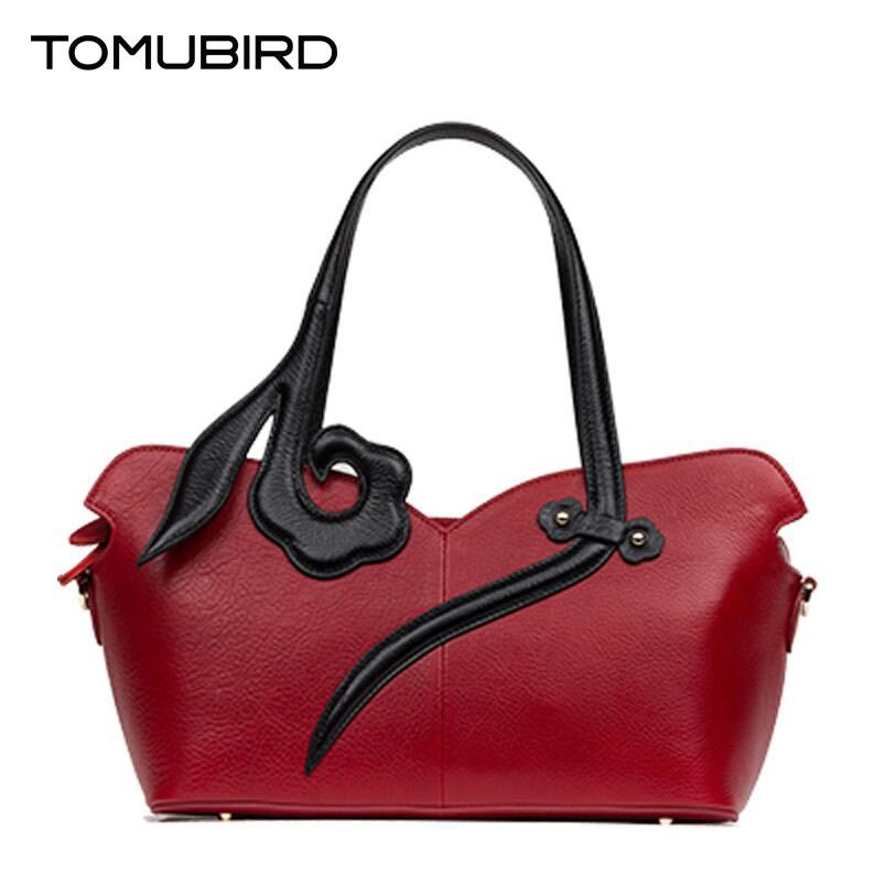 TOMUBIRD 2017 new quality cowhide material famous brand women bag fashion luxury genuine leather handbag shoulder bag tomubird new quality cowhide material embossed crocodile tote famous brand women bag fashion genuine leather handbags