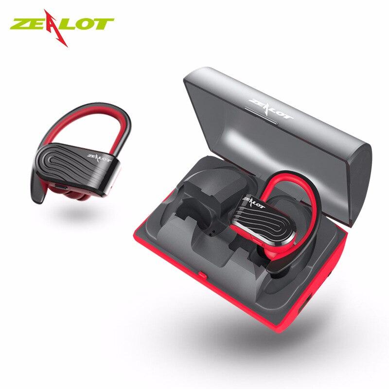2018 zélot H10 Tws casque Bluetooth Sport écouteurs étanche Sport stéréo écouteurs avec micro 2000 mAh chargeur portatif batterie boîte