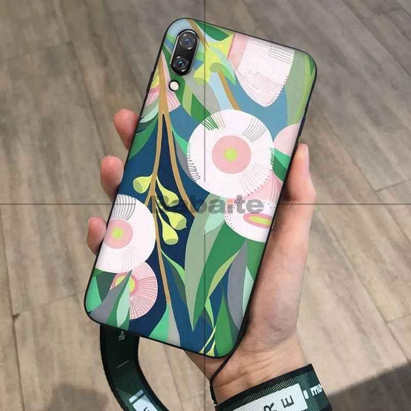 Babaite Thực Vật Hoa Hoa Sơn Phụ Kiện Điện Thoại Ốp Lưng cho Huawei Mate10 Lite P20 Pro P9 P10 Plus Quan Điểm 10 Bao