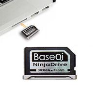 BaseQi NinjaDrive Aluminum 128GB/256GB Storage Expansion SD Card For MacBook Pro Retina 13