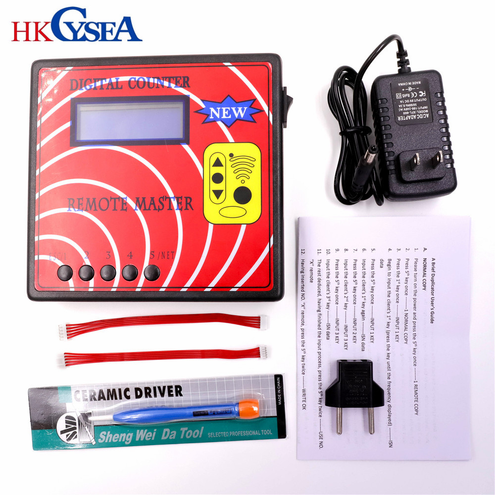 HKCYSEA Remote Copier DigitalI Counter 10 Remote Master Blue Screen Fixed Rolling Code Copy Machine Auto