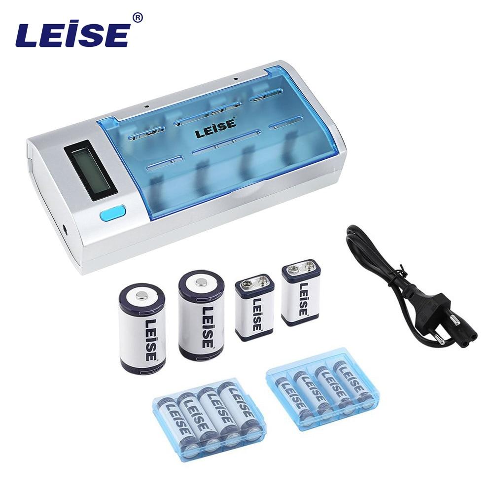 Leise 908 multi-fonctionnel LCD Intelligent charge rapide ensemble avec un chargeur et quatre Types de batterie Rechargeable EU US Plug