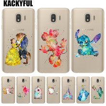 Snow White Tinker Bell Stitch Phone Case For Coque Samsung Galaxy J3 J