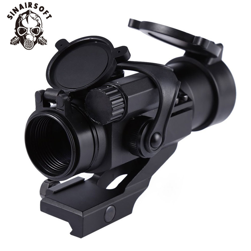 SINAIRSOFT Hunting Riflescopes 32mm M2 Sighting Telescope Laser Gun Sight With Reflex Red Green Dot Scope For Picatinny Rail