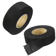MTGATHER Tesa Coroplast Adhesive Cloth Tape For Cable Harness Wiring Loom Car Wire Harness Tape Black 25mmx10m