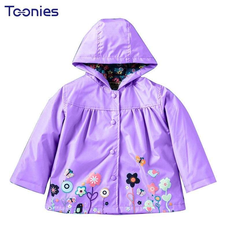 Hot Sale Coat Girls Cute Flowers Cartoon Children Set Waterproof Windbreaker Cardigan Jacket Girls Boys Rain Coat Outwear Suits