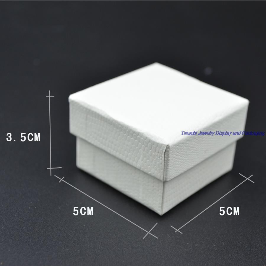 10 pcs White Jewelry Display Paper Package Boxes Decoration
