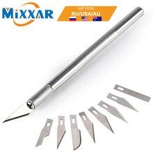 ZK20, envío directo, 9 cuchillas de aluminio, herramientas de mano para tallar madera, cuchillo de escultura, bisturí DIY, herramienta de corte de grabado para trabajar madera