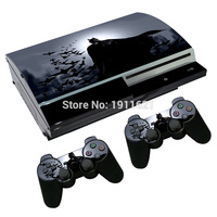 OSTSTICKER Batman Skin cover for ps3 Fat vinyl sticker for PlayStation 3 Fat console and 2 pcs controller decal