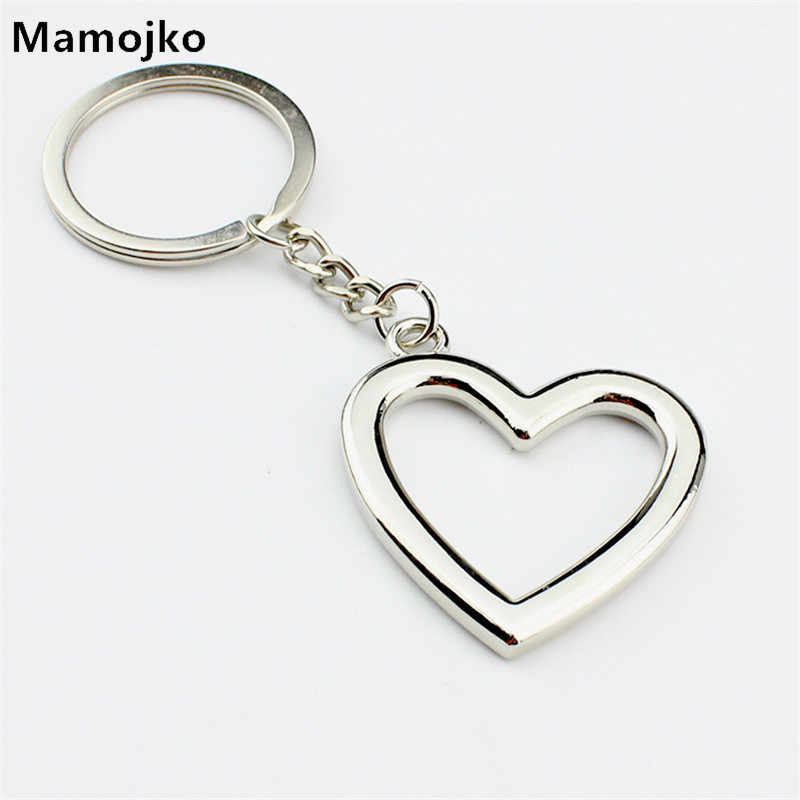 Mamojko SimplePersonality Hollow Love Heart  Keychain Fashion HandBag Pendant Key Holder Charm Cute Car Key Ring For Women Gifts