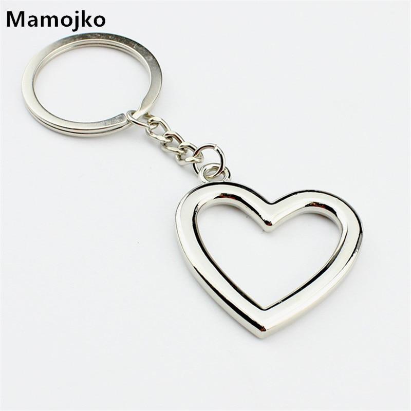 Mamojko SimplePersonality Hollow Love Heart  Keychain Fashion HandBag Pendant Key Holder Charm Cute Car Key Ring For Women Gifts handbag