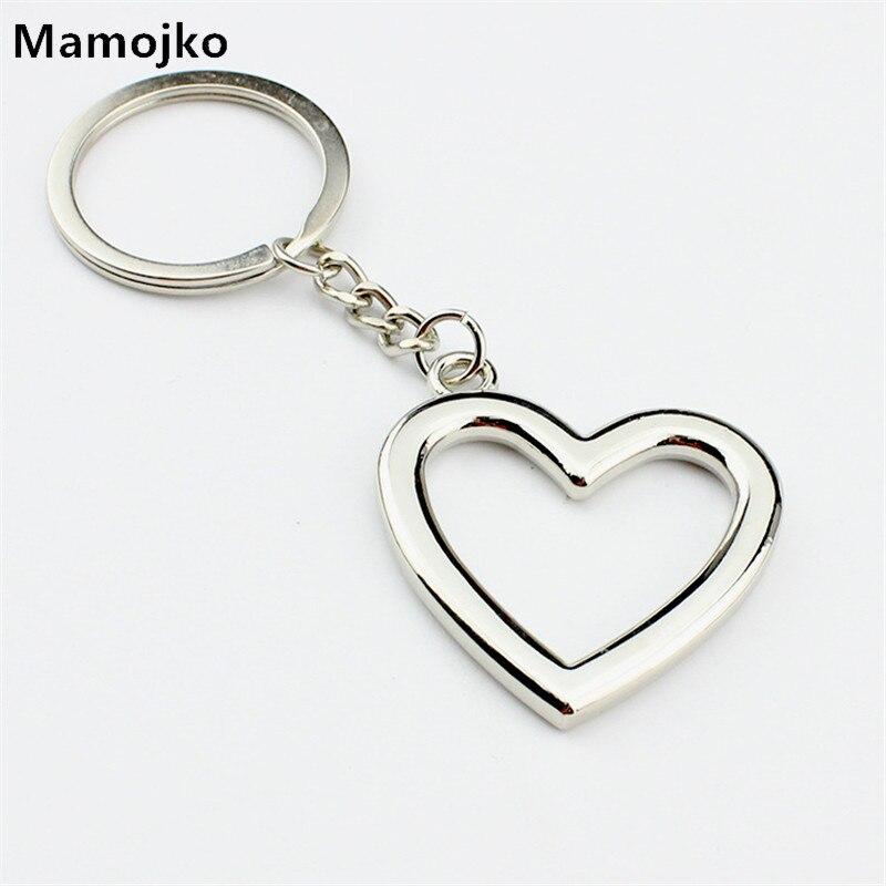 Mamojko SimplePersonality Hollow Love Heart  Keychain Fashion HandBag Pendant Key Holder Charm Cute Car Key Ring For Women Gifts