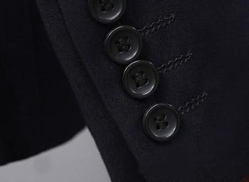 Мужские костюмы из 3 предметов на заказ, приталенные строгие костюмы с отворотами, смокинги для свадьбы для мужчин (пиджак + жилет + брюки) Terno