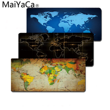 MaiYaCa Computer Mouse pad With 800x300mm Size and Big Edge Locking World Map Printings PC Mat Smooth Soft Anti-Slip