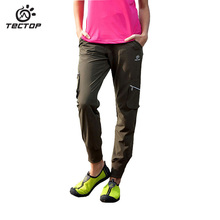 TECTOP Spring&Summer Outdoor Sportswear Hiking Pants Women Waterproof Quick-drying Breathable Female Climbing Trousers