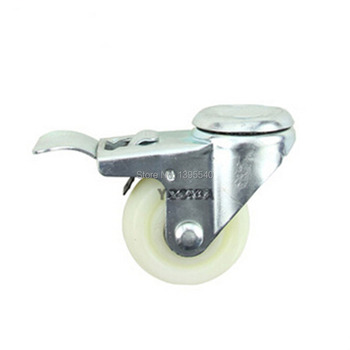 New 3'' Swivel Wheels Caster Industrial Castor Univeral Wheel Medical castor Brake Nylon Rubber 360 Degree Rolling Heavy Casters