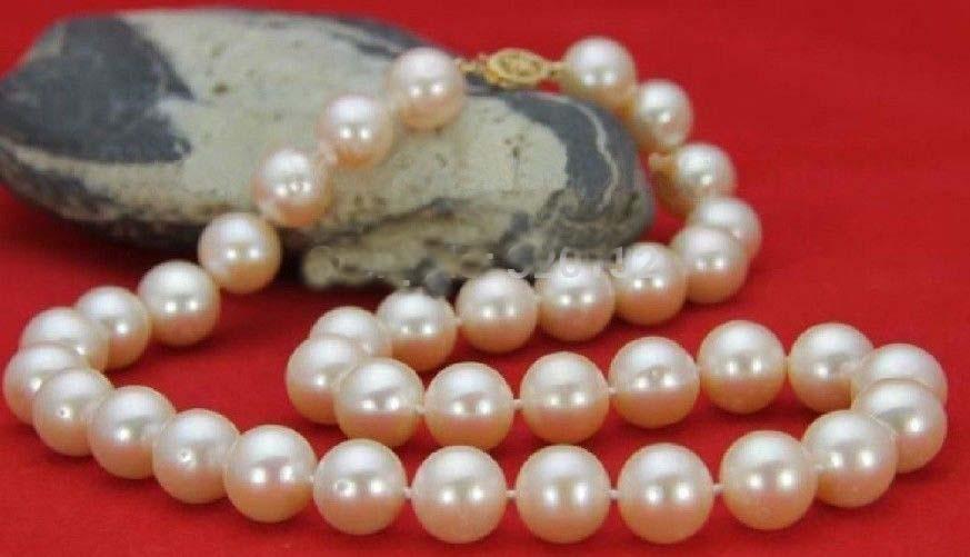 Très bon naturel mer du sud AA + 10-11 MM collier de perles blanches 18
