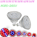 15W/ 21W/27W/36W/45W/54W Led Grow Light For Indoor Plant  E27 AC85-265V Red+Blue LED Plant Grow Light Lamps for Flowering Plant