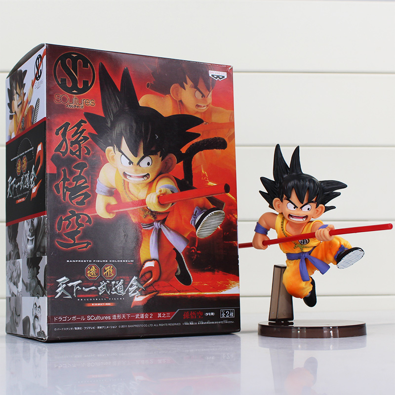 Dragon Ball Figuren Spielzeug 16 cm Sohn Goku Kindheit Ausgabe Scultures Große PVC Action-figuren Puppe PVC Modell Spielzeug