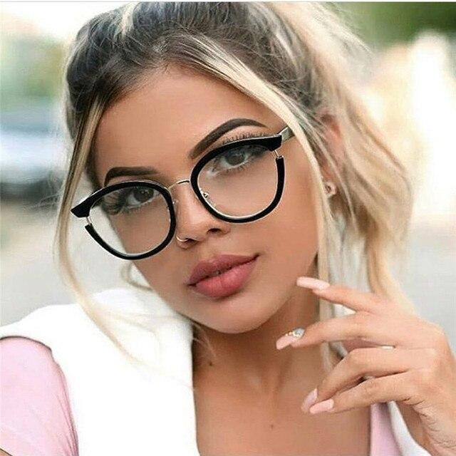 3b2178762510 High Quality Fashion women glasses Trending myopia retro optical glasses  frame brand design Clear glasses oculos
