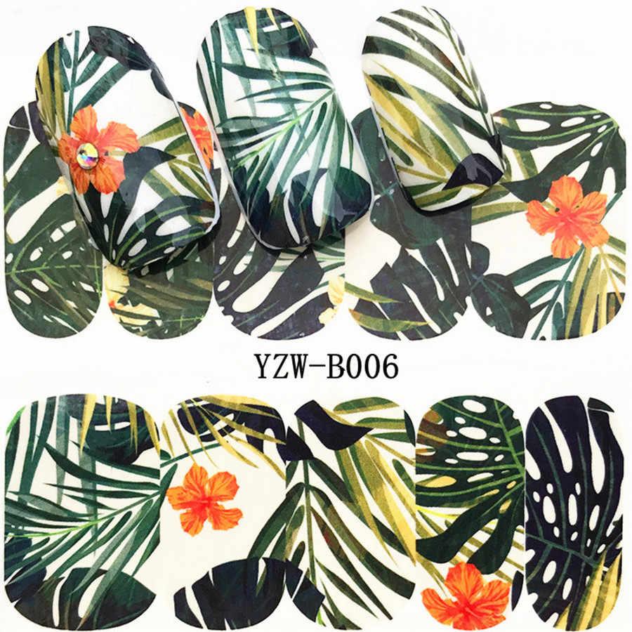 2018 Planta Verde Caliente Moda Mujer 1 Uds Uñas Postizas De