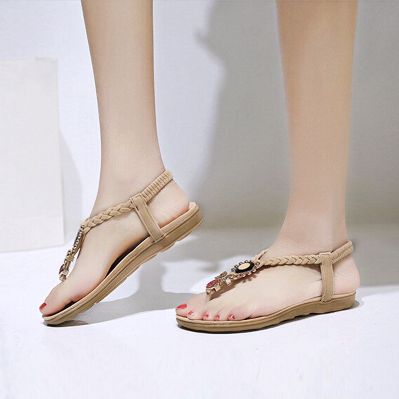 c73d3667aac LAKESHI Women Sandals Ankle Strap Flat Sandals Summer Shoes Women 2017 Flip  Flops Plus Size 41 42-in Women s Sandals from Shoes on Aliexpress.com