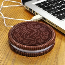 Original Hot Cookie Style USB Cup Warmer Heat Beverage Mug Mat Keep Drink Warm Heater Mugs Coaster Pad Gadget